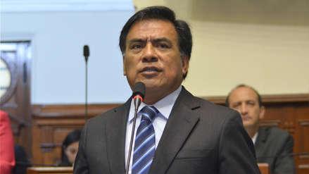 Velásquez Quesquén expresó su rechazo a que el Congreso nombre a jefe de la ONPE