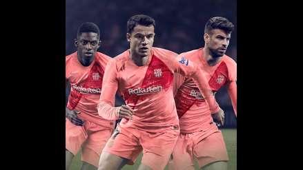 Barcelona se vistió de rosado en la presentación de su tercera camiseta  9a3dd48a214cc