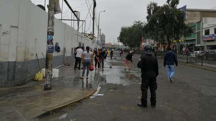 Jornada de limpieza en mercado ex Mayorista en Trujillo