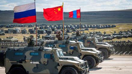 Las imágenes de las maniobras militares de la alianza Rusia-China