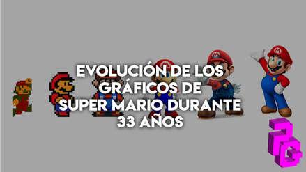 La evolución en los gráficos de Super Mario Bros durante 33 años