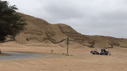 Práctica de motocross en alrededores de Huaca del Sol y La Luna afectará sitio arqueológico