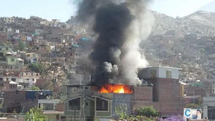 Video | Zapatería clandestina se incendió en Arequipa