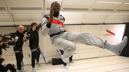 Usain Bolt desafió sus límites corriendo en gravedad cero