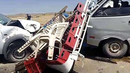 Al menos un herido de gravedad dejó un choque entre vehículos en la provincia de El Collao
