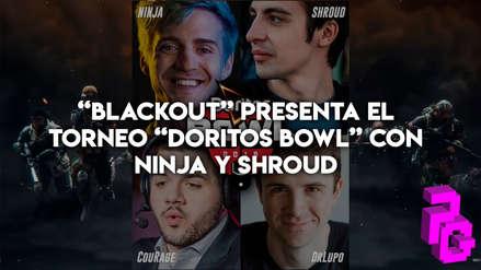 """""""Blackout"""", el Battle Royale de Call of Duty, presenta el torneo """"Doritos Bowl"""" con Ninja y Shroud"""