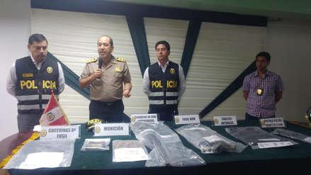 Policía investiga si detenidos con armamento pertenecen a red delictiva