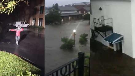 Los videos que muestran la fuerza del Huracán Florence en su llegada a Estados Unidos