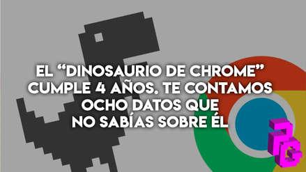 """El """"Dinosaurio de Chrome"""" cumple 4 años. Te contamos ocho datos que no sabías sobre él."""