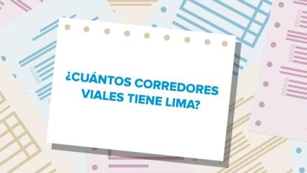 Elecciones 2018 | Candidatos a la alcaldía de Lima responden cuántos corredores viales tiene la ciudad