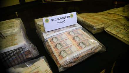 Policía incautó más de 2.5 millones de dólares y 4.5 millones de soles en billetes falsos