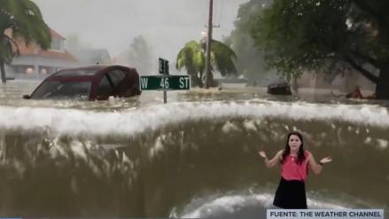 Video | Los impresionantes efectos especiales de un canal para explicar los peligros del huracán Florence