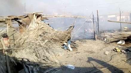 Áncash | Incendio arrasó con decenas de viviendas en un AA.HH. de Nuevo Chimbote