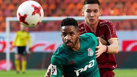 Con Jefferson Farfán desde el banco: Lokomotiv igualó 1-1 ante el Dinamo