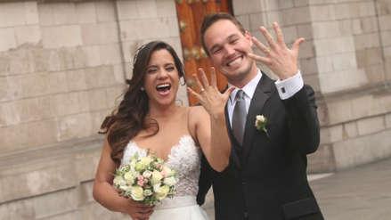Vanessa Terkes y George Forsyth se lucieron como recién casados tras su boda religiosa [FOTOS]