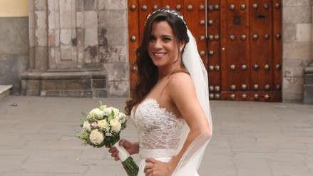 Vanessa Terkes deslumbró en su llegada a su matrimonio religioso en la Iglesia San Pedro [FOTOS]