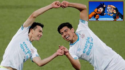 La peculiar celebración de la dupla mexicana en el PSV al estilo 'Dragon Ball'