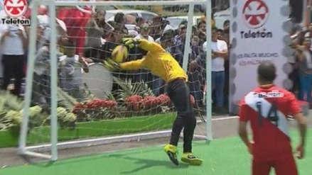 Teletón 2018: Juan 'Chiquito' Flores protagonizó un blooper en partido amistoso