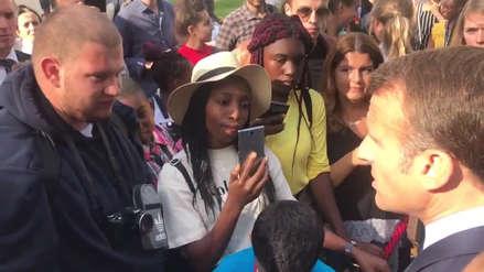 Critican a presidente de Francia por el consejo que dio a un joven horticultor desempleado