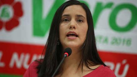 Verónika Mendoza sobre cuestión de confianza: Saludo que el presidente la haya planteado