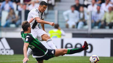 Cristiano Ronaldo selló su doblete con un gran zurdazo ante el Sassuolo