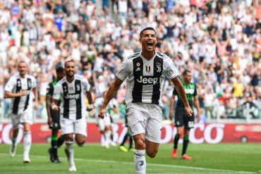 Juventus derrotó al Sassuolo con doblete de Cristiano Ronaldo