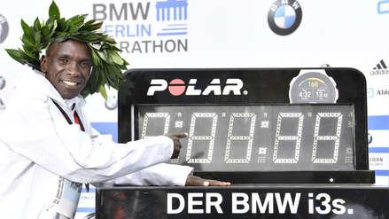 Eliud Kipchoge ganó la Maratón de Berlín y estableció nuevo récord mundial