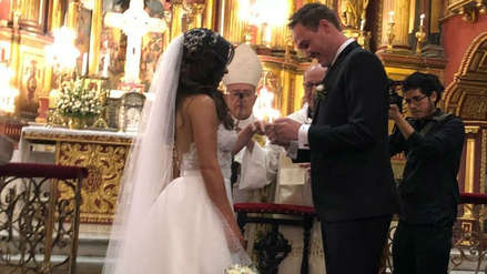Vanessa Terkes y George Forsyth: Así fue la fiesta después de su boda [VIDEO]