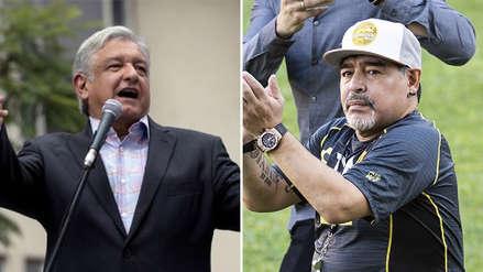 Presidente electo de México saludó  a Diego Maradona antes de su debut con Dorados de Sinaloa
