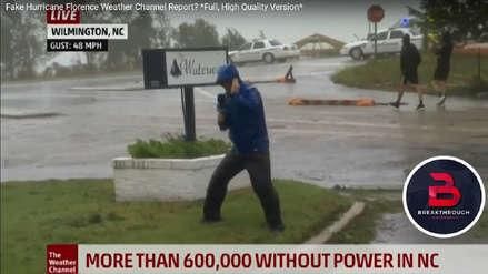 Canal de TV defendió a reportero acusado de exagerar fuerza de huracán Florence