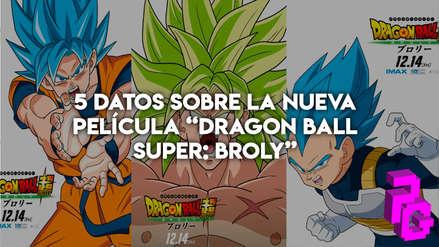 """5 datos sobre la nueva película """"Dragon Ball Super: Broly"""""""
