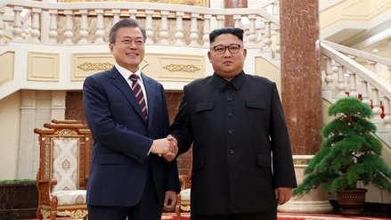 Kim Jong-un y Moon Jae-in celebraron su primera reunión en Pyongyang