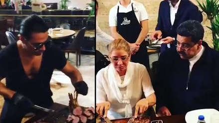 Nicolás Maduro comentó su criticado banquete en un restaurante de Estambul