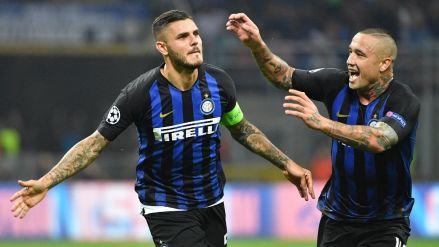Sobre el final, Inter de Milán ganó 2-1 al Tottenham por la Champions League
