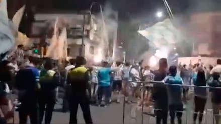 Hinchas de Atlético Tucumán armaron la fiesta antes del duelo con Gremio por Libertadores