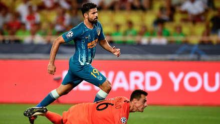 En solo 4 toques: el golazo de Diego Costa al Mónaco en la Champions League