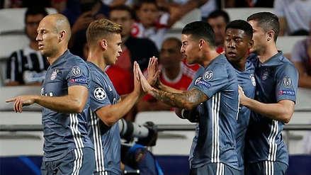 Bayern Munich se impuso 2-0 sobre Benfica por la Champions League