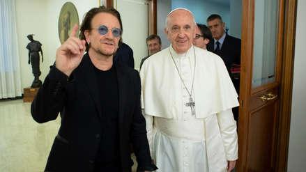 Bono de U2 y el Papa discuten crisis de abusos sexuales en Irlanda [FOTOS Y VIDEO]