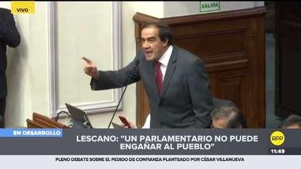 Lescano y Salaverry sostuvieron tenso diálogo en debate congresal