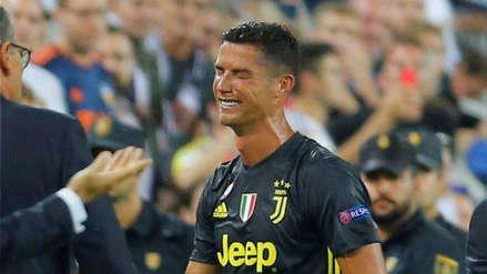 Tras ser expulsado: el llanto de Cristiano Ronaldo en la Champions League