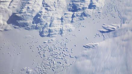 El colapso de un glaciar muestra el impacto del cambio climático en Groenlandia