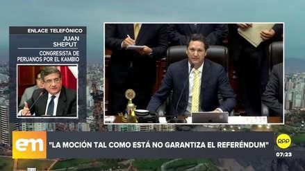 """Sheput alertó que la cuestión de confianza aprobada """"no garantiza el referéndum"""""""
