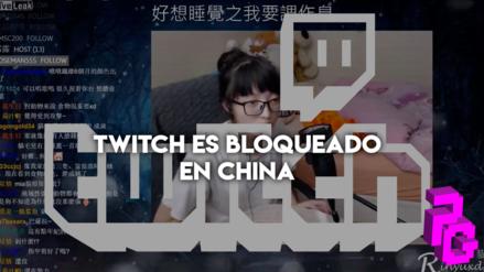 Twitch, la plataforma de streaming de videojuegos, acaba de ser bloqueada en China