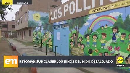 Los alumnos del nido en Los Olivos que fue tomado por matones regresan a clases
