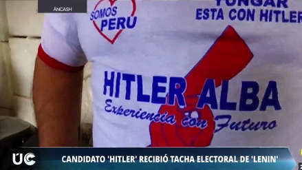 Hitler postula a una alcaldía en Áncash y Lenin quiso tacharlo