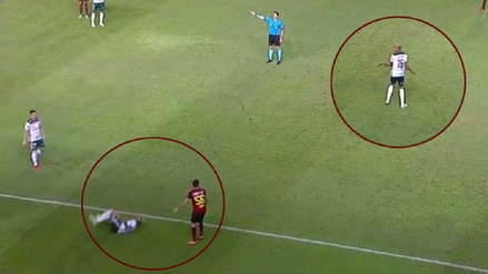Deyverson quiso 'imitar' a Neymar con esta descarada simulación en el Brasileirao