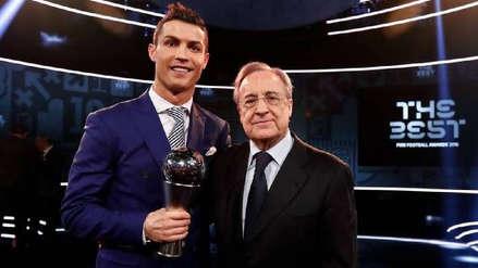 Florentino Pérez elogió a Cristiano Ronaldo y le abrió las puertas del Real Madrid
