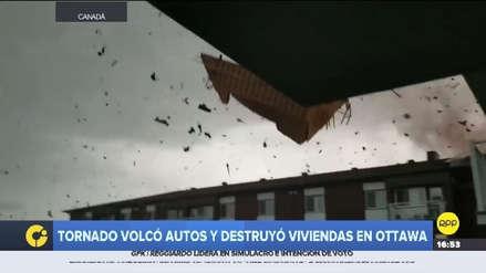 Video | Así fue el paso del tornado que dejó más de 30 heridos y sin luz a Ottawa
