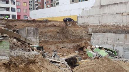Fotos | Así quedó obra de construcción tras el derrumbe de un estacionamiento en Surco