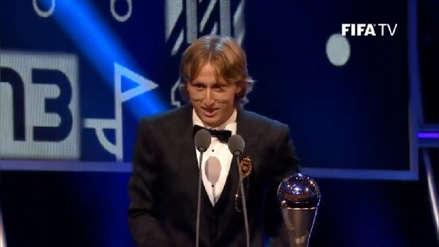 Luka Modric ganó el premio The Best al mejor jugador de la FIFA